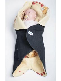 Конверт для новорожденного Ramili Denim Style Beige (Рамили)
