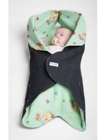 Конверт для новорожденного Ramili Denim Style Green (Рамили)
