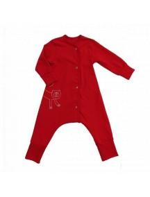 """Пижама на кнопках """"Красный""""  (Бамбинизон)"""
