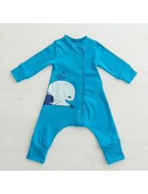 "Пижама на кнопках ""Крошка Кит"" (Бамбинизон)"