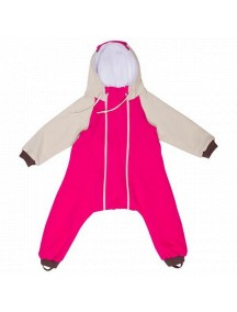 Комбинезон с клапаном на молниях с капюшоном и подкладом, Розовый (Бамбинизон)