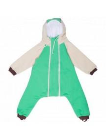 Комбинезон с клапаном на молниях с капюшоном и подкладом, Зеленый (Бамбинизон)
