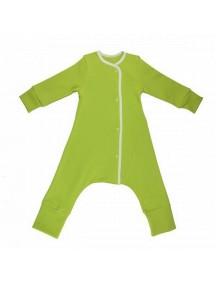 "Пижама на кнопках ""Зелёное Яблоко-белый""  (Бамбинизон)"