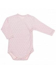 Распашонка детская Боди, Серо-розовая (Бамбинизон)