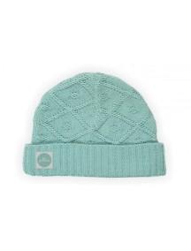 Вязаная шапочка Diamond knit от Jollein, цвет винтажный зеленый