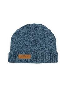 Вязаная шапочка от Jollein, цвет синий меланж