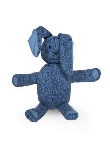 Вязаная игрушка Зайчик от Jollein, цвет синий меланж