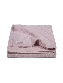 Вязаный плед Jollein 75х100 см, цвет винтажный розовый
