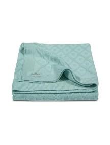 Вязаный плед Jollein 75х100 см, цвет винтажный зеленый