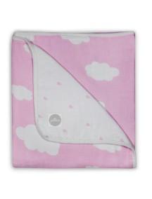 Одеяло муслиновое Jollein 120х120 см, Розовые облака
