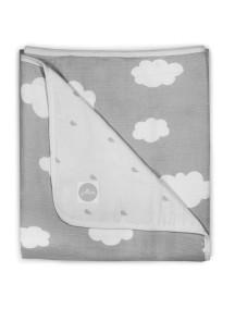 Одеяло муслиновое Jollein 120х120 см, Серые облака