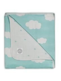 Одеяло муслиновое Jollein 120х120 см, Нефритовые облака