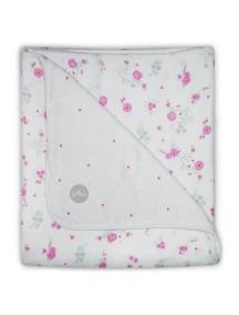 Одеяло муслиновое Jollein 120х120 см, Розовые цветы