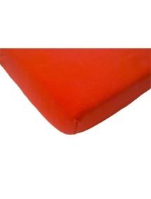 Простыня на резинке Jollein 70х140 см, цвет красный (бязь)