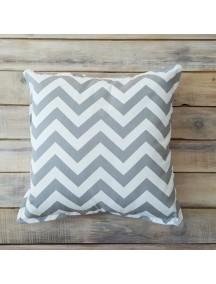 Интерьерная подушка ручной работы, Grey Zigzag 40 х 40 см