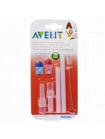 Philips AVENT Набор из 2 сменных трубочек и ершика для чашки-поильника (Филипс Авент)