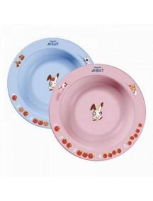Philips AVENT Глубокая тарелка 230 мл, 6 м+, голубая и розовая (Филипс Авент)