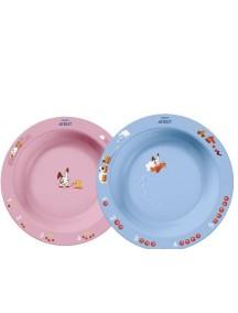Philips AVENT Глубокая тарелка 450 мл, 12 м+, голубая и розовая (Филипс Авент)