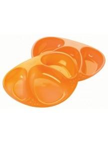 Tommee Tippee Набор тарелочек трехсекционных, оранжевый, салатовый (Томми Типпи)