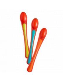 Tommee Tippee Термоложечки 3 шт. (оранжевый-голубой-салатовый) (Томми Типпи)