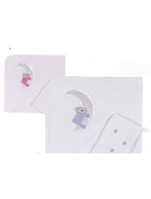 Kidboo Полотенце (уголок+варежка) Teddy Boo Pink (Кидбоо)