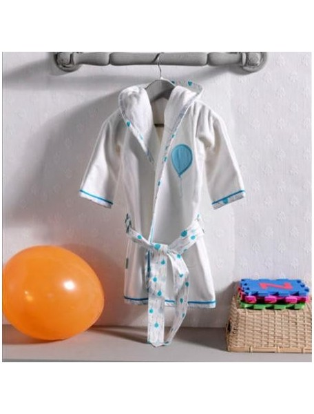 Kidboo Халат махровый Happy Birthday Blue (Кидбоо)