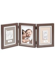 Рамочка тройная (шоколад) Baby Art