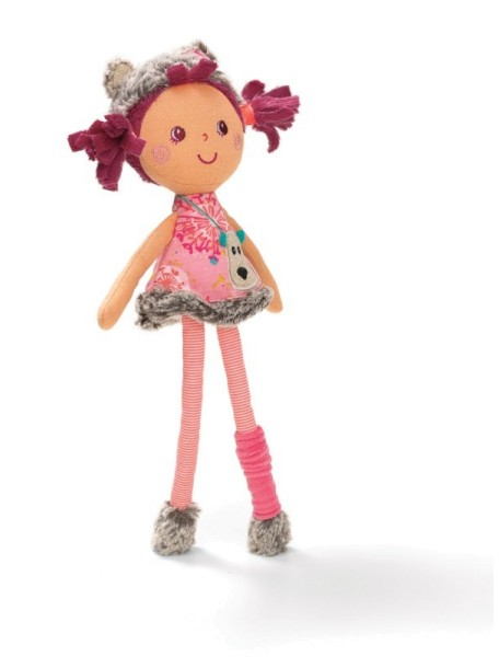 Цезария: мягкая цирковая куколка, маленькая  (в подарочной упаковке) Lilliputiens (Бельгия)