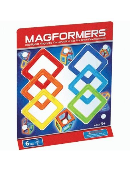 Магнитный конструктор MAGFORMERS 63086 Квадраты 6