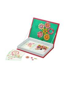 """Большая магнитная книга-игра """"Цветы"""" (113 магнитов, 5 карточек) Janod (Франция)"""