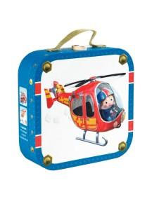"""Набор пазлов в квадратном чемоданчике """"Пилот"""" (4 пазла по 6, 9, 12, 16 деталей) Janod (Франция)"""