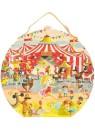 """Пазл большой в круглом чемоданчике """"Цирк"""", 54 эл. Janod (Франция)"""