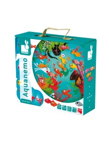 """Настольная игра магнитная """"Рыбалка"""" (20 карточек, 4 удочки, 20 рыбок) Janod (Франция)"""
