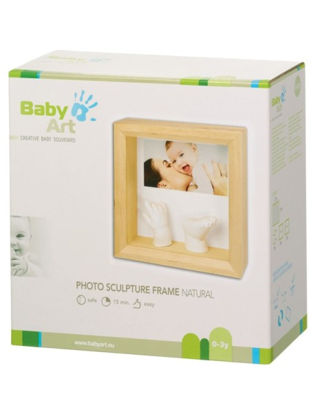 Рамочка с объем. слепками и фото (дерево) Baby Art