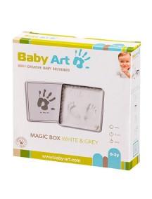 "Коробочка с отпечатком ""Мэджик Бокс"" (белая) Baby Art"