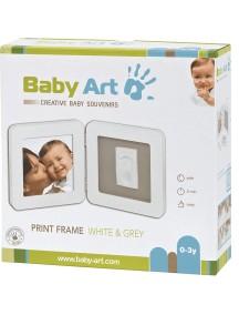 Рамочка двойная (белая), подложка серая Baby Art