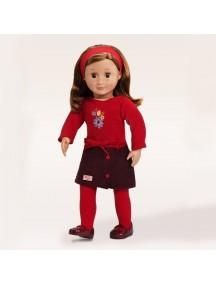 Одежда для куклы 46см (Платье с вышивкой, ободок, колготки, туфли) Our Generation