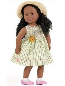 Одежда для куклы 46см (Платье в полоску, соломенная шляпа, гольфы, туфли) Our Generation
