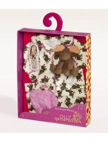 Одежда для куклы 46 см ( ночная пижама, тапочки, игрушка) Our Generation