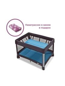 Манеж-кроватка 4moms Breeze (Фомамс Бриз) голубой