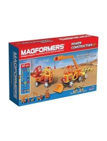Магнитный конструктор MAGFORMERS 63090 Power Construction Set (Тяжелая строительная техника)