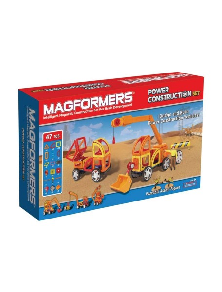 Магнитный конструктор MAGFORMERS 63090 Power Construction Set