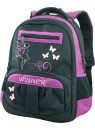 Детский школьный рюкзак Winner 307 Черное-фиолетовый
