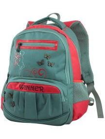 Детский школьный рюкзак Winner 307 Серо-красный