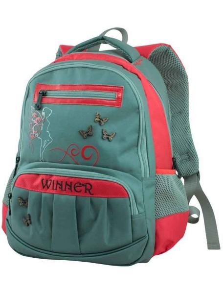 Детский школьный рюкзак Winmax 307 Серо-красный
