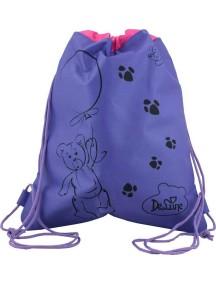 Детский Мешок для обуви De Lune S-02-фиолетовый с мишкой