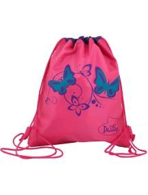 Детский Мешок для обуви De Lune S-02-розовый с бабочками