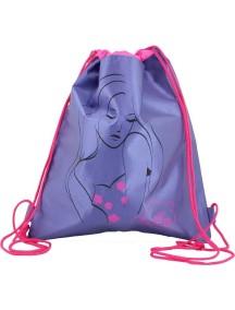 Детский Мешок для обуви De Lune S-02-фиолетовый с девушкой