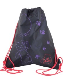 Детский Мешок для обуви De Lune S-02-Черный с мишкой
