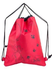 Детский Мешок для обуви De Lune S-02-красный с мишкой